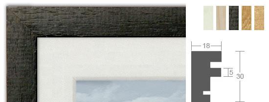 Bilderrahmenwerk WL Profil 105 Holz-Bilderrahmen