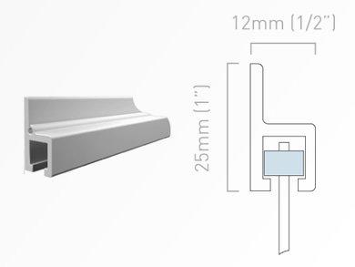 Galerieschiene H-Profil 250 cm