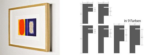 Werkladen-Rahmen Distanz Massivholz Eiche 27