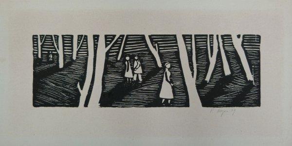 4 Menschen im Wald