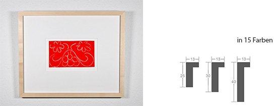 Werkladen-Rahmen Massivholz Ahorn 13