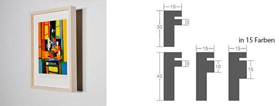 Werkladen-Rahmen Distanz Massivholz Ahorn 15