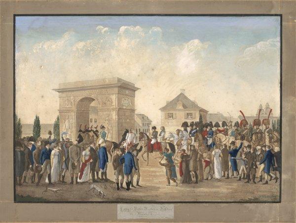 Einzug des Kaiser Napoleon in Düsseldorf am 3.11.1811