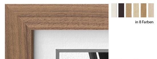 Halbe Magnetrahmen Holz 22