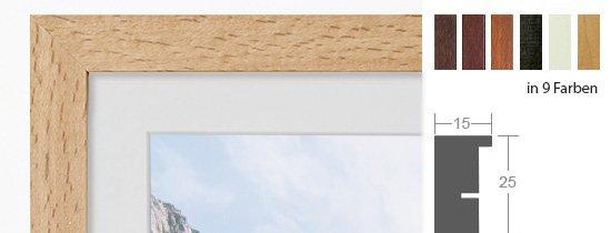 DEHA Profil A25 Holz-Bilderrahmen