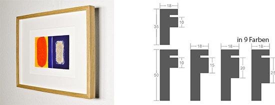 Werkladen-Rahmen Distanz Massivholz Eiche 18