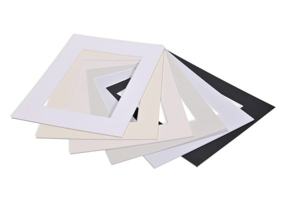 Fertig-Passepartout 1,4 mm Standardqualität Nielsen Whitecore