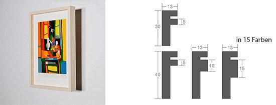 Werkladen-Rahmen Distanz Massivholz Ahorn 13