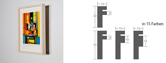 WL-Rahmen Distanz Massivholz Ahorn 13
