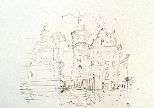 Jan Wellem-Denkmal u. Rathaus