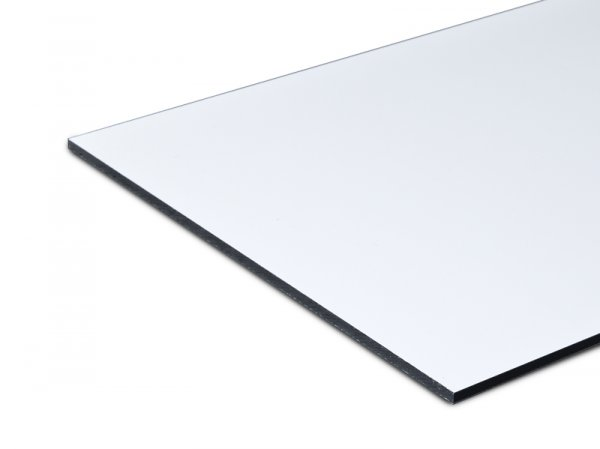 Aluverbundplatte Dibond weiß