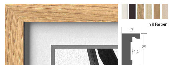 Halbe Magnetrahmen Holz 16