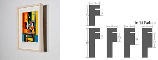 Werkladen-Rahmen Distanz Massivholz Ahorn 18