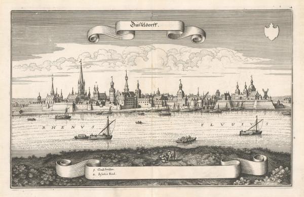 Merian Stadtansicht Düsseldorf