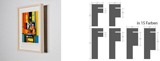 Werkladen-Rahmen Distanz Massivholz Ahorn 27