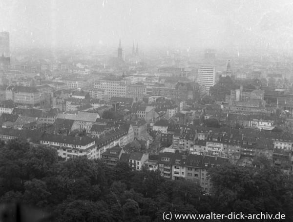 Blick auf die Düsseldorfer Carlstadt 1960