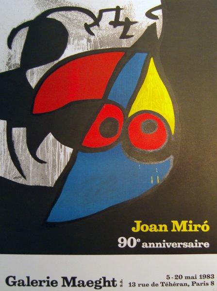 Joan Miró 90e anniversaire