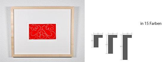 Werkladen-Rahmen Massivholz Ahorn 22