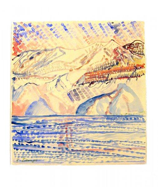 Herbert Zangs, Italienische Seelandschaft