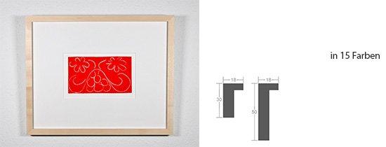 Werkladen-Rahmen Massivholz Ahorn 18