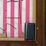 Drahtloser Sender an einem Keilrahmen montiert