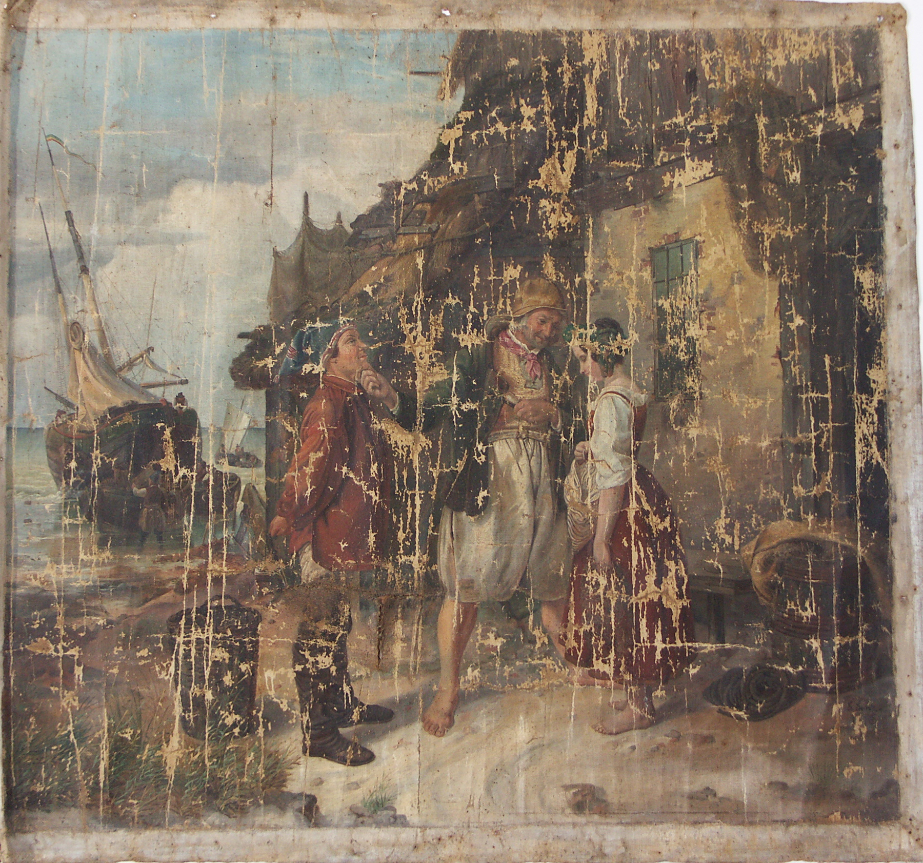Bekannt Gemälderestaurierung und -konservierung BJ82
